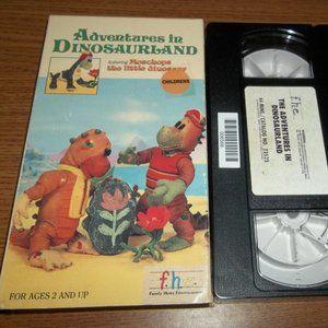 ADVENTURES IN DINOSAURLAND FHE VHS